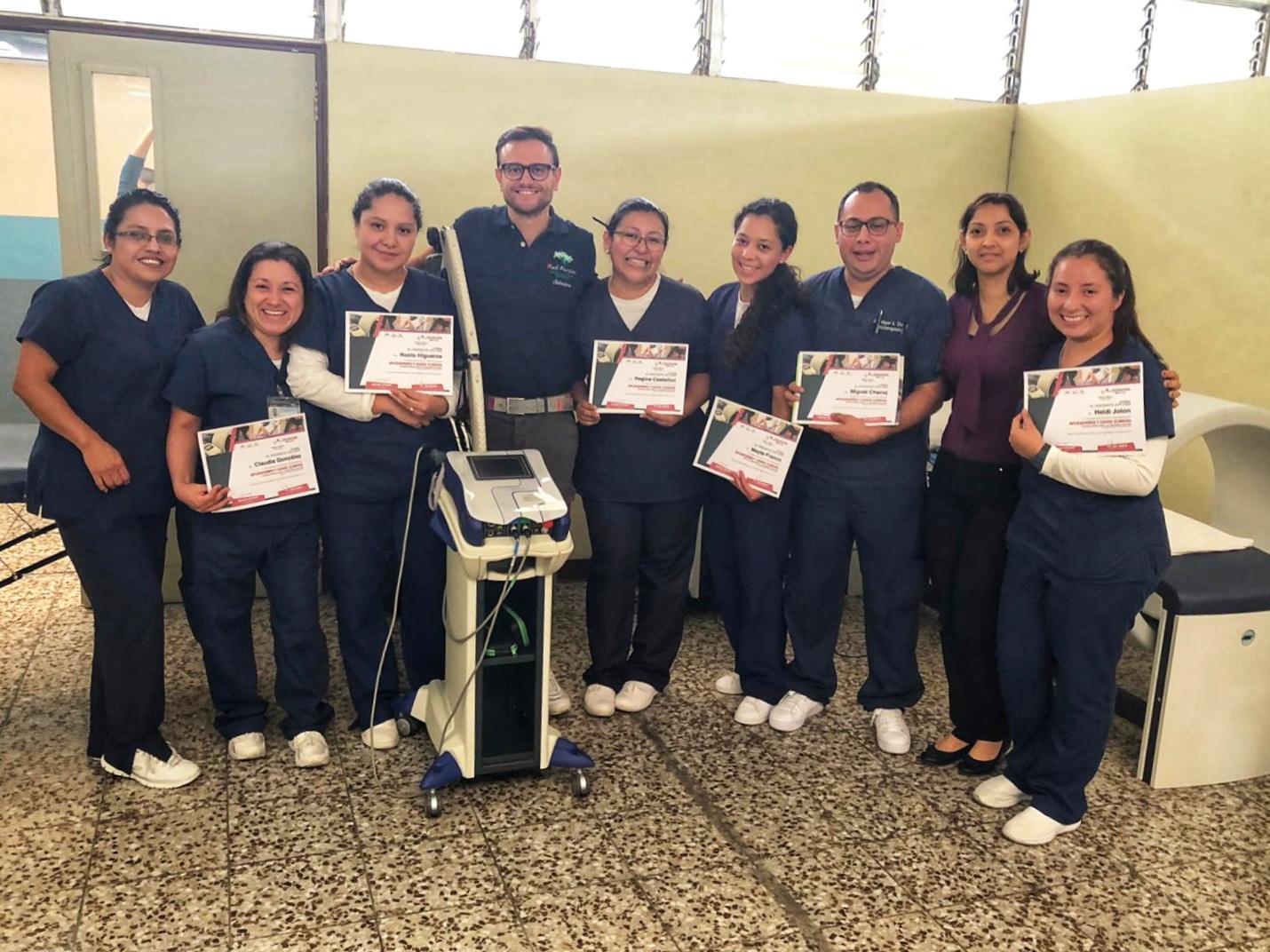Corso laser e magnetoterapia ASA - Ospedale Militare Guatemala