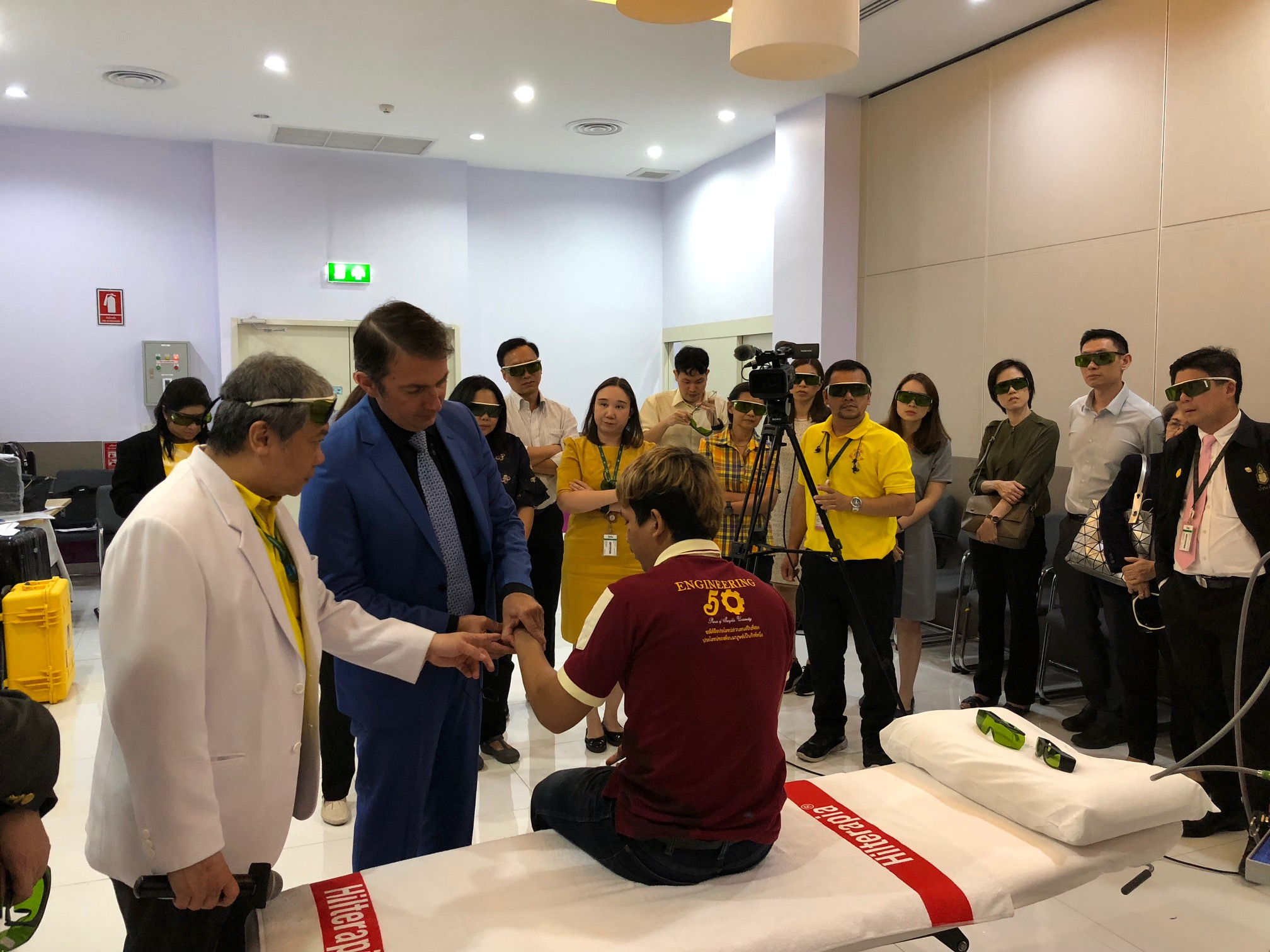 Sport and laser therapy - Thailand July 2019