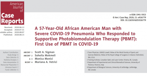 MLS Laser Therapy for the treatment of COVID19 pneumonia