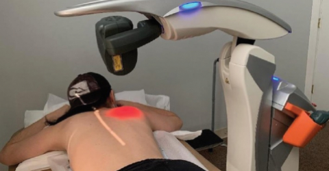M8 laser treatment for pain due to COVID-19