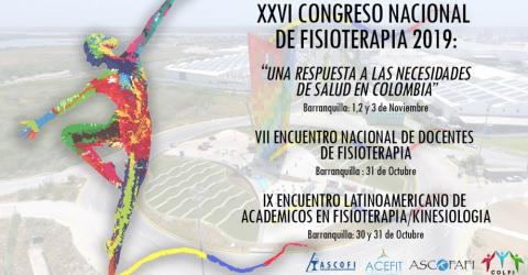 XXVI Congreso Nacional de Fisioterapia 2019 - Colombie