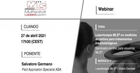 Webinar 1 | Laserterapia MLS® en medicina deportiva para tratamientos traumatológicos
