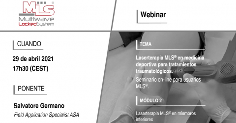 Webinar Laserterapia MLS® en miembros inferiores