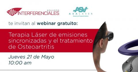 Webinar | Terapia Laser de emisiones sincronizadas y el tratamiento de osteoartritis