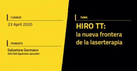 Webinar | HIRO TT: la nueva frontera de la laserterapia